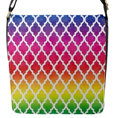 Colorful Rainbow Moroccan Pattern Flap Messenger Bag (s)