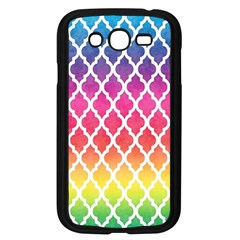 Colorful Rainbow Moroccan Pattern Samsung Galaxy Grand Duos I9082 Case (black)