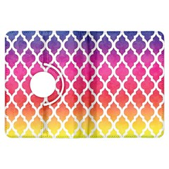 Colorful Rainbow Moroccan Pattern Kindle Fire Hdx Flip 360 Case by BangZart