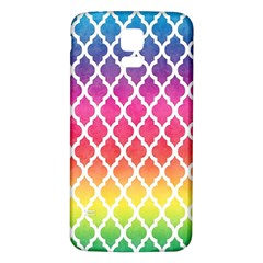 Colorful Rainbow Moroccan Pattern Samsung Galaxy S5 Back Case (white)