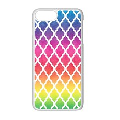 Colorful Rainbow Moroccan Pattern Apple Iphone 7 Plus White Seamless Case