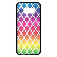 Colorful Rainbow Moroccan Pattern Samsung Galaxy S8 Plus Black Seamless Case