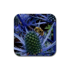 Chihuly Garden Bumble Rubber Square Coaster (4 Pack)