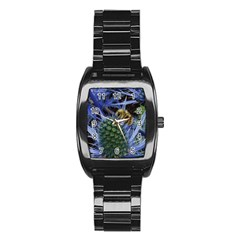 Chihuly Garden Bumble Stainless Steel Barrel Watch