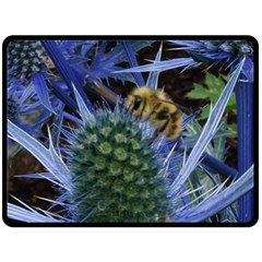 Chihuly Garden Bumble Double Sided Fleece Blanket (large)  by BangZart