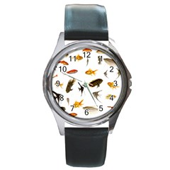 Goldfish Round Metal Watch
