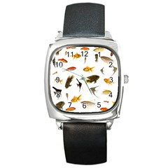Goldfish Square Metal Watch