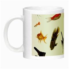 Goldfish Night Luminous Mugs by BangZart