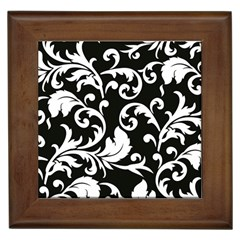 Vector Classicaltr Aditional Black And White Floral Patterns Framed Tiles by BangZart