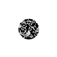 Vector Classicaltr Aditional Black And White Floral Patterns 1  Mini Buttons by BangZart