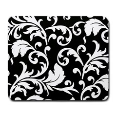 Vector Classicaltr Aditional Black And White Floral Patterns Large Mousepads