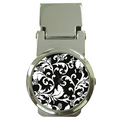 Vector Classicaltr Aditional Black And White Floral Patterns Money Clip Watches