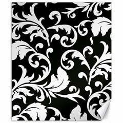 Vector Classicaltr Aditional Black And White Floral Patterns Canvas 8  X 10  by BangZart
