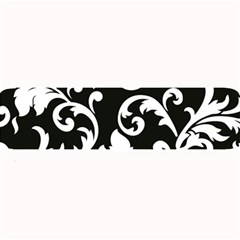 Vector Classicaltr Aditional Black And White Floral Patterns Large Bar Mats