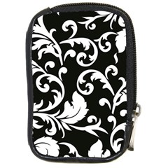 Vector Classicaltr Aditional Black And White Floral Patterns Compact Camera Cases by BangZart