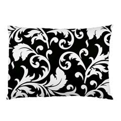 Vector Classicaltr Aditional Black And White Floral Patterns Pillow Case (two Sides)