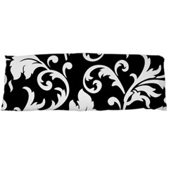 Vector Classicaltr Aditional Black And White Floral Patterns Body Pillow Case (dakimakura) by BangZart