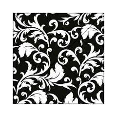 Vector Classicaltr Aditional Black And White Floral Patterns Acrylic Tangram Puzzle (6  X 6 ) by BangZart