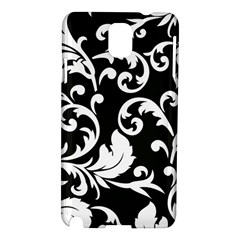 Vector Classicaltr Aditional Black And White Floral Patterns Samsung Galaxy Note 3 N9005 Hardshell Case by BangZart