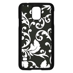 Vector Classicaltr Aditional Black And White Floral Patterns Samsung Galaxy S5 Case (black)