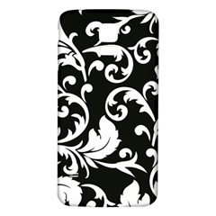 Vector Classicaltr Aditional Black And White Floral Patterns Samsung Galaxy S5 Back Case (white)