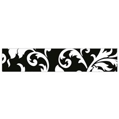 Vector Classicaltr Aditional Black And White Floral Patterns Flano Scarf (small)