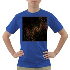 Multicolor Fractals Digital Art Design Dark T Shirt