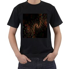 Multicolor Fractals Digital Art Design Men s T Shirt (black)