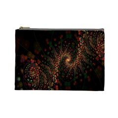 Multicolor Fractals Digital Art Design Cosmetic Bag (large)
