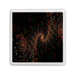 Multicolor Fractals Digital Art Design Memory Card Reader (square)  by BangZart
