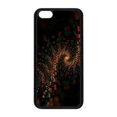 Multicolor Fractals Digital Art Design Apple Iphone 5c Seamless Case (black)