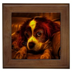 Cute 3d Dog Framed Tiles