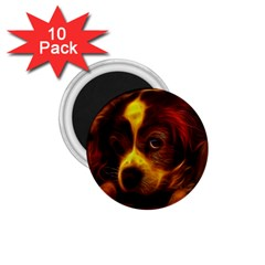 Cute 3d Dog 1 75  Magnets (10 Pack)