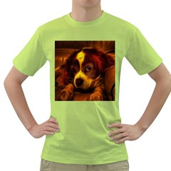 Cute 3d Dog Green T Shirt