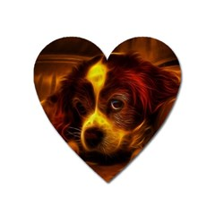 Cute 3d Dog Heart Magnet