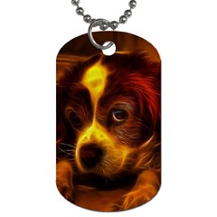 Cute 3d Dog Dog Tag (one Side)