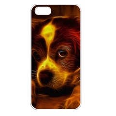 Cute 3d Dog Apple Iphone 5 Seamless Case (white)