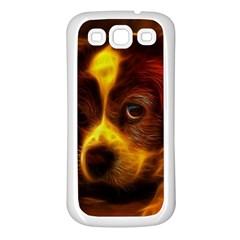 Cute 3d Dog Samsung Galaxy S3 Back Case (white)