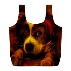 Cute 3d Dog Full Print Recycle Bags (l)  by BangZart