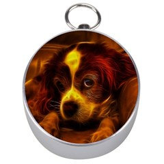 Cute 3d Dog Silver Compasses by BangZart