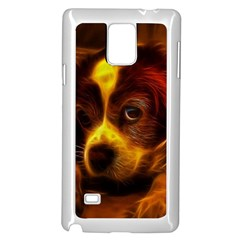 Cute 3d Dog Samsung Galaxy Note 4 Case (white)