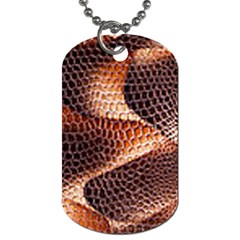 Snake Python Skin Pattern Dog Tag (two Sides)