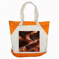 Snake Python Skin Pattern Accent Tote Bag