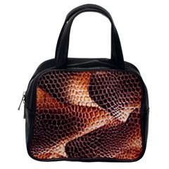Snake Python Skin Pattern Classic Handbags (one Side) by BangZart