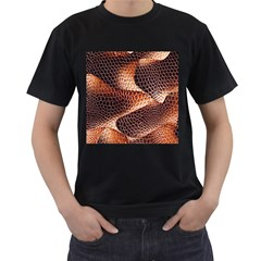 Snake Python Skin Pattern Men s T Shirt (black)