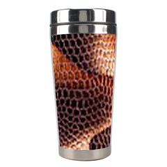 Snake Python Skin Pattern Stainless Steel Travel Tumblers by BangZart