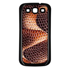 Snake Python Skin Pattern Samsung Galaxy S3 Back Case (black)