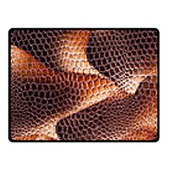 Snake Python Skin Pattern Double Sided Fleece Blanket (small)