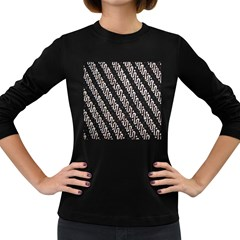 Batik Jarik Parang Women s Long Sleeve Dark T Shirts