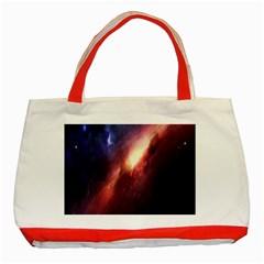Digital Space Universe Classic Tote Bag (red)